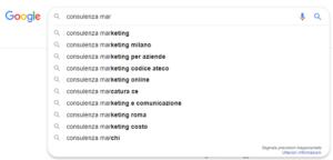 Completamento automatico di Google e ricerche correlate