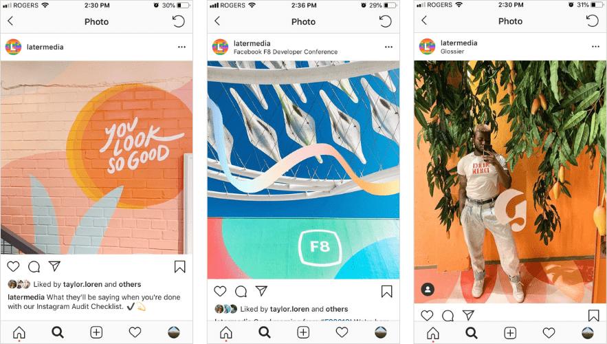 Dimensione foto Instagram feed