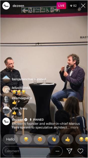 Dimensione nstagram video live di Instagram