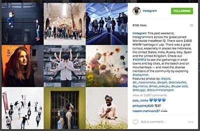 contenuto in evidenza instagram