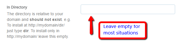 Indicare la directory