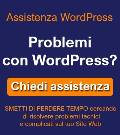 Assistenza per wordpress